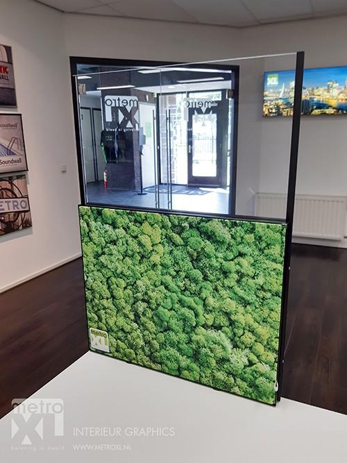 Bureauscherm Covid 19 Corona green